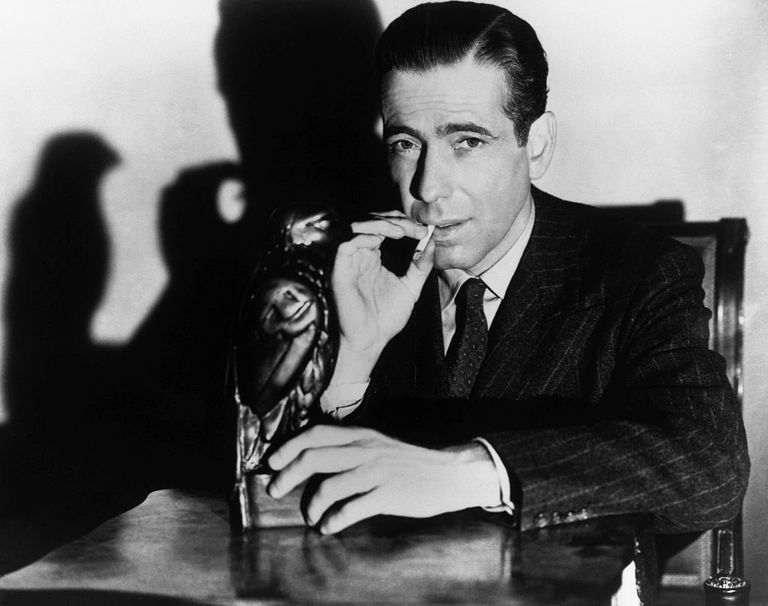 Humphrey Bogart black and white portrait