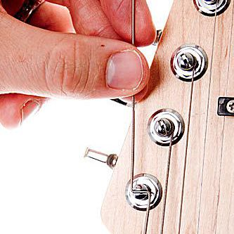 changing strings on an electric guitar tutorial. Black Bedroom Furniture Sets. Home Design Ideas