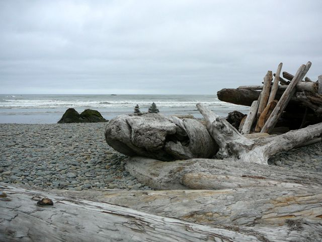 Driftwood and Rocks on Ruby Beach