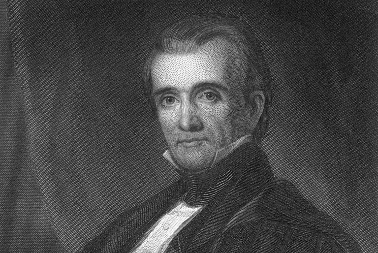 Engraved portrait of James K. Polk