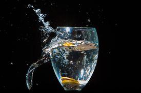 drinking glass breaking