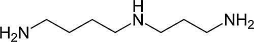 Esta es la estructura química de la espermidina.