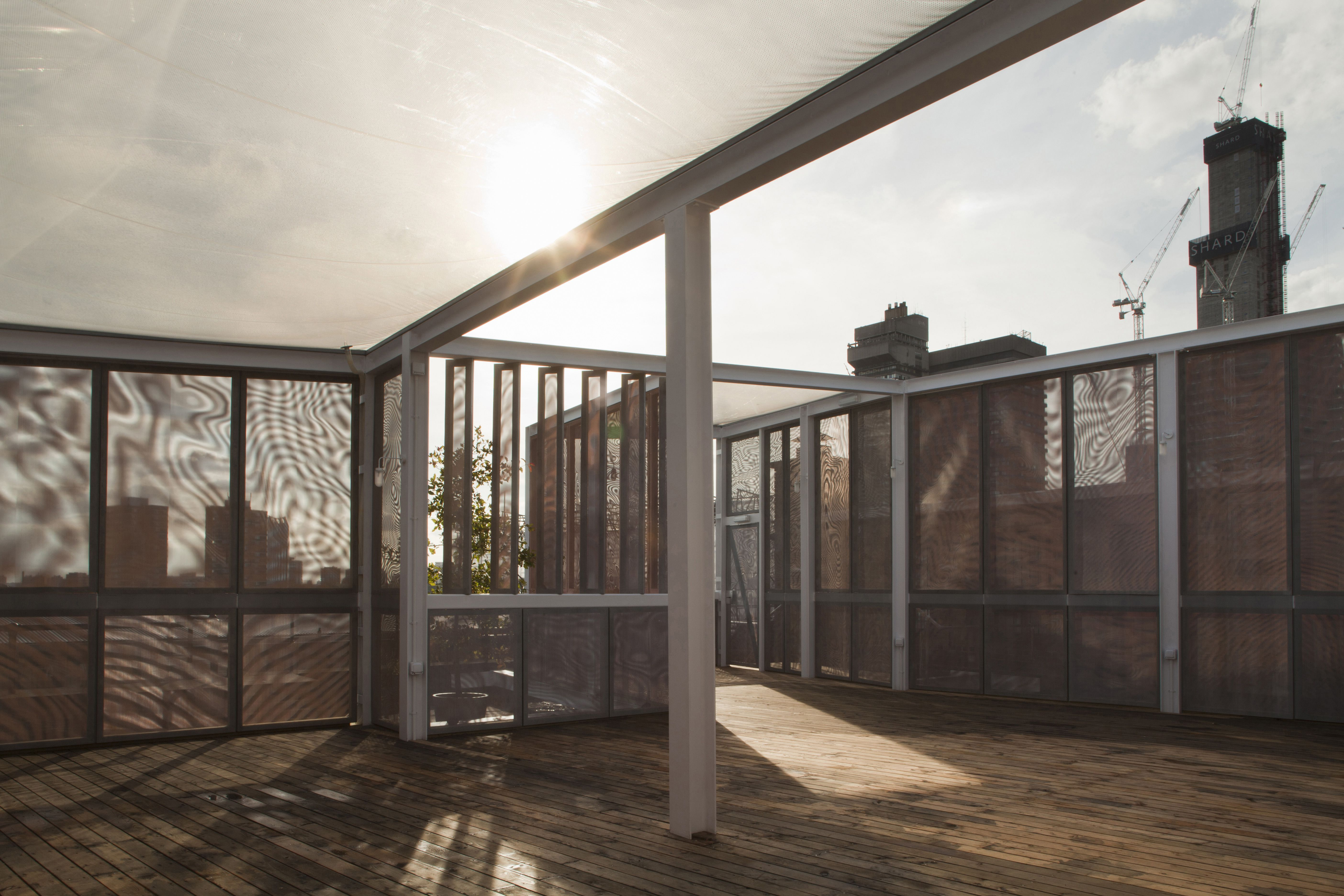 ETFE Roof on Skyroom by David Kohn Architects