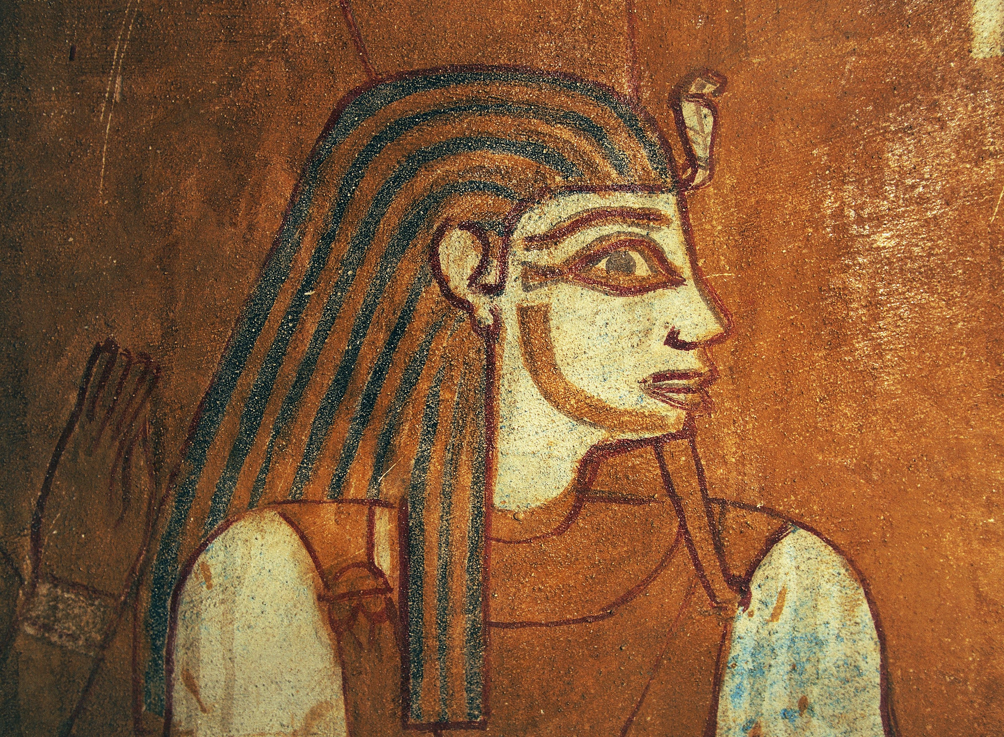 Depiction of Geb, detail of wall painting.