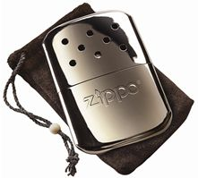 Photo of silver chrome Zippo hand warmer.