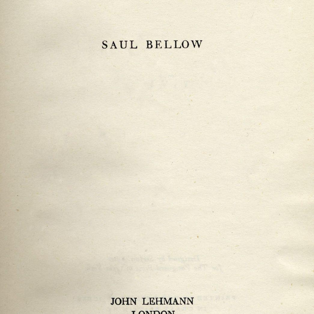 Saul Bellow Dangling Man