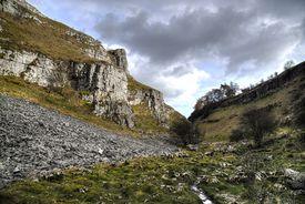 Limestone outcrop in Lathkill Dale