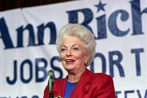 Ann Richard Making an Announcement