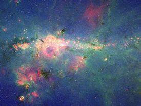 massive stars in the peony nebula