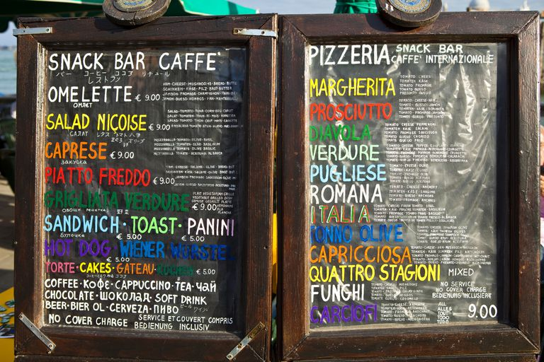 Italian Menu Boards