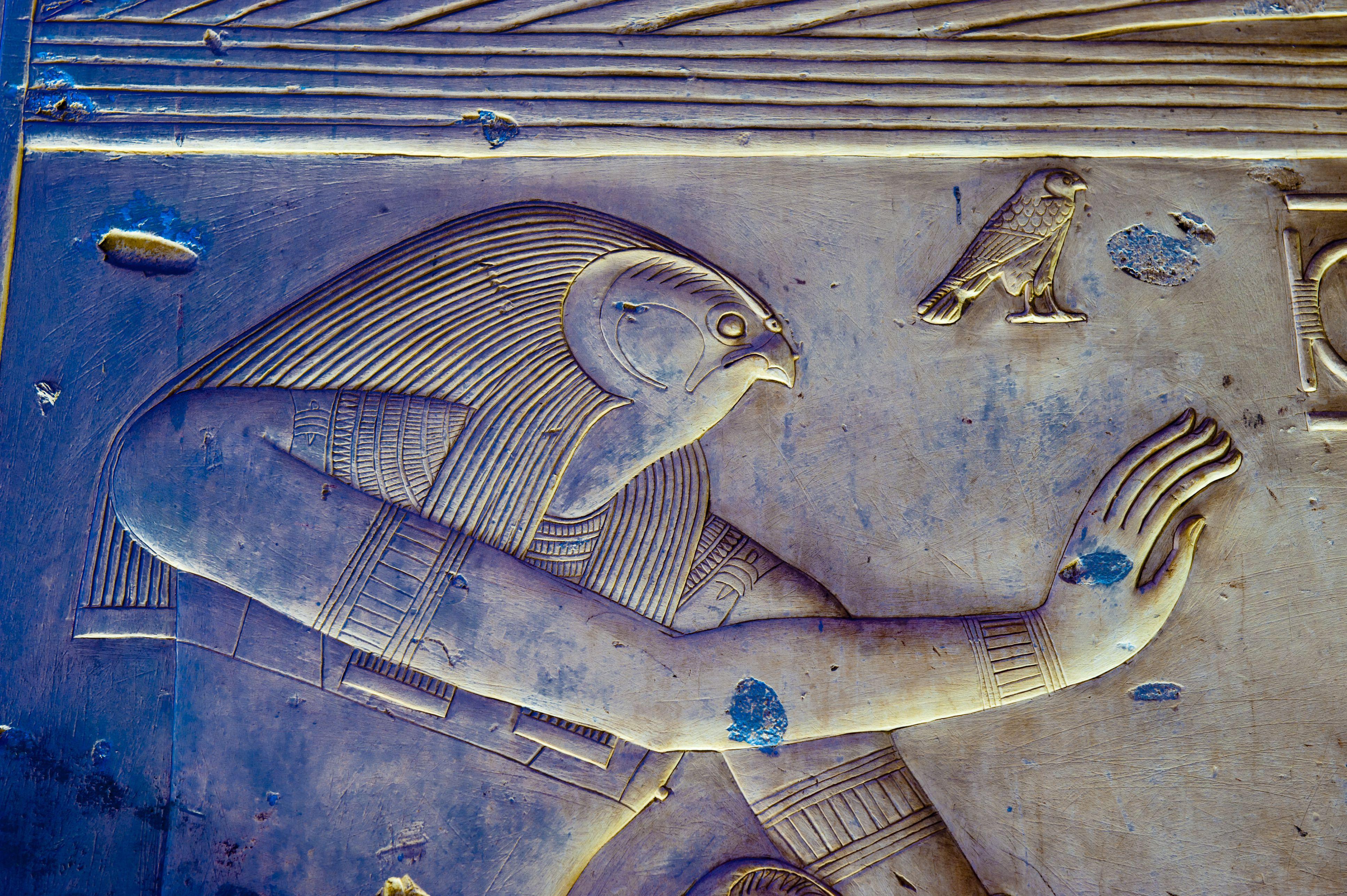 Hieroglyphics in Temple of Seti I.