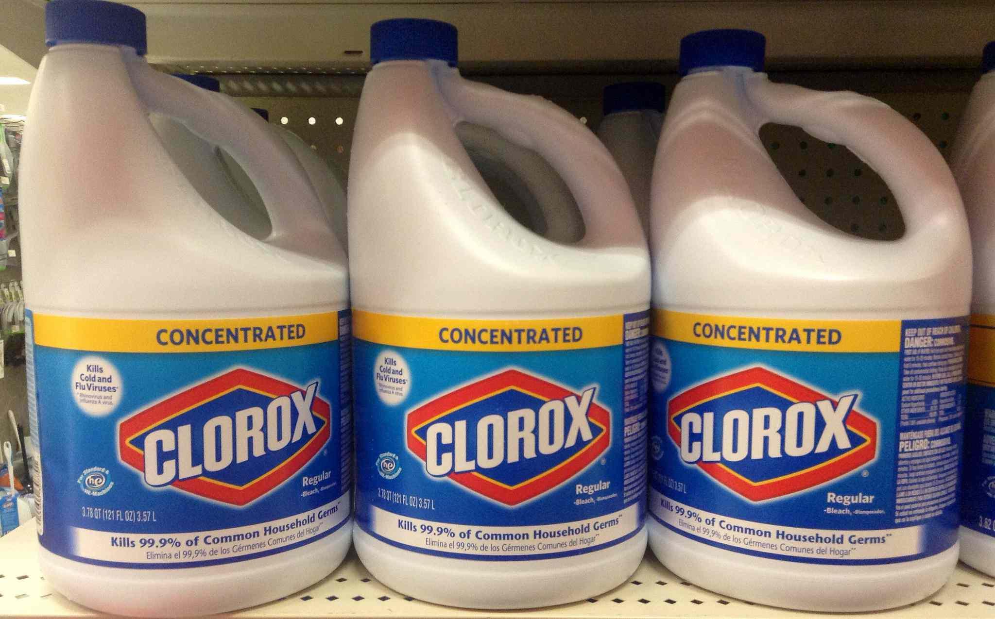 Bottles of bleach