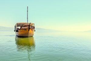 Fishing boat on the Sea of Galilee