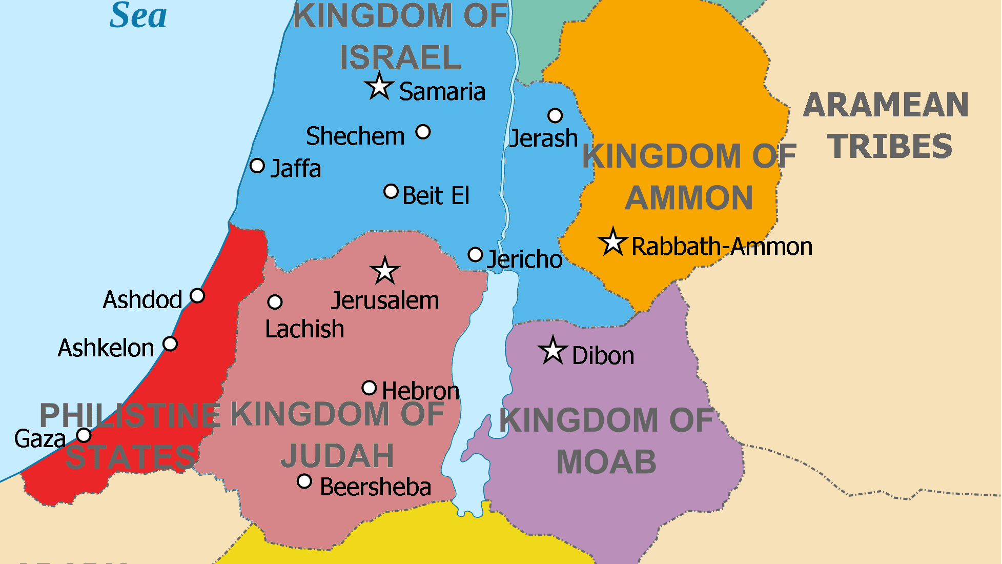 The Ancient Levant With Map
