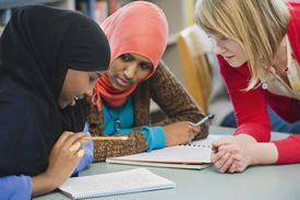 Adults students learning English as a second language