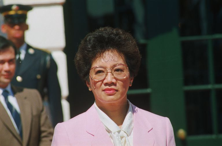 Philippine President Corazon Aquino at White House