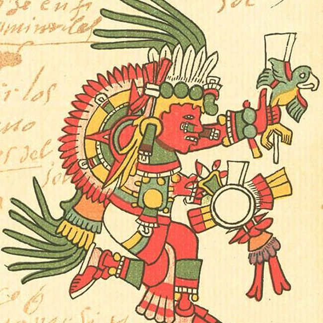 Aztec God Tonatiuh from the Codex Telleriano-Remensis