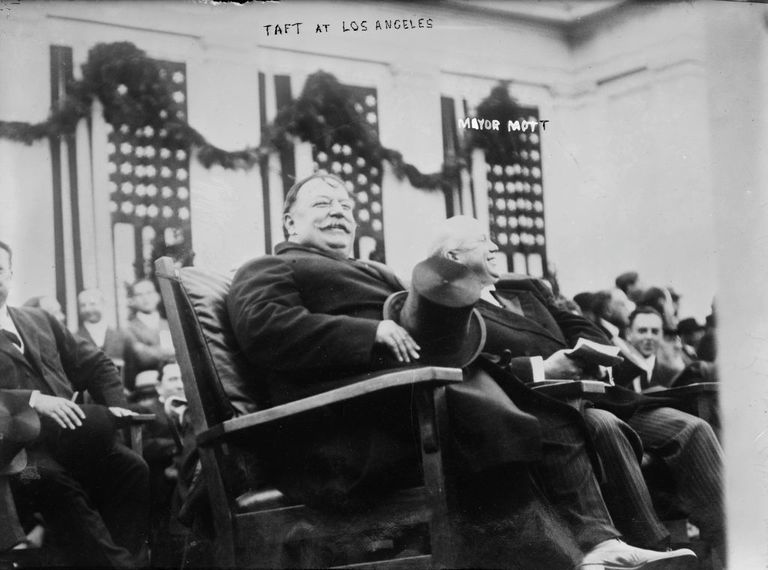 William Howard Taft on campaign tour