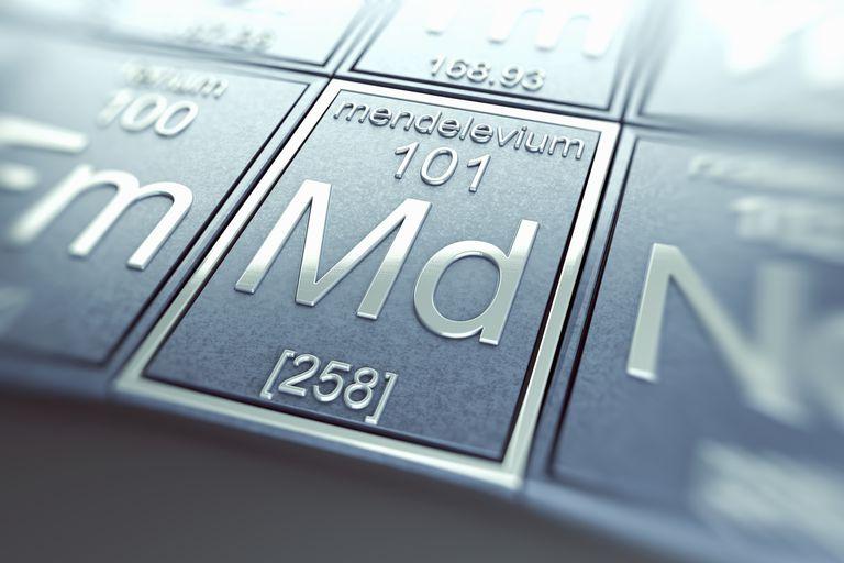 Mendelevium is element atomic number 101