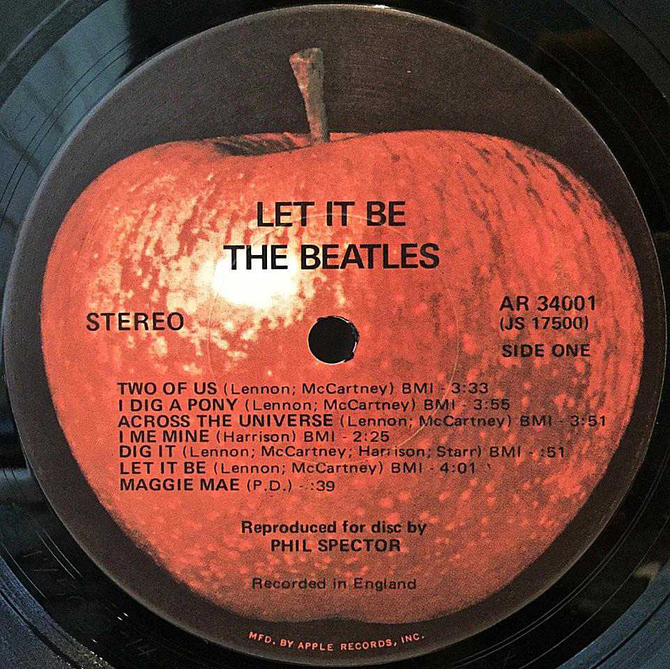 12 Apple Records Label Variations