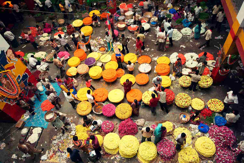 City flower market