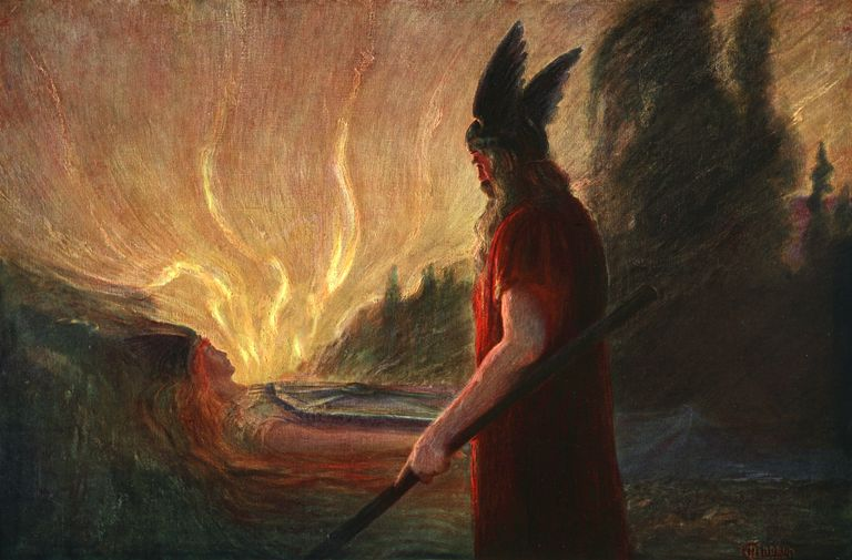 As The Flames Rise Wotan Leaves' 1906