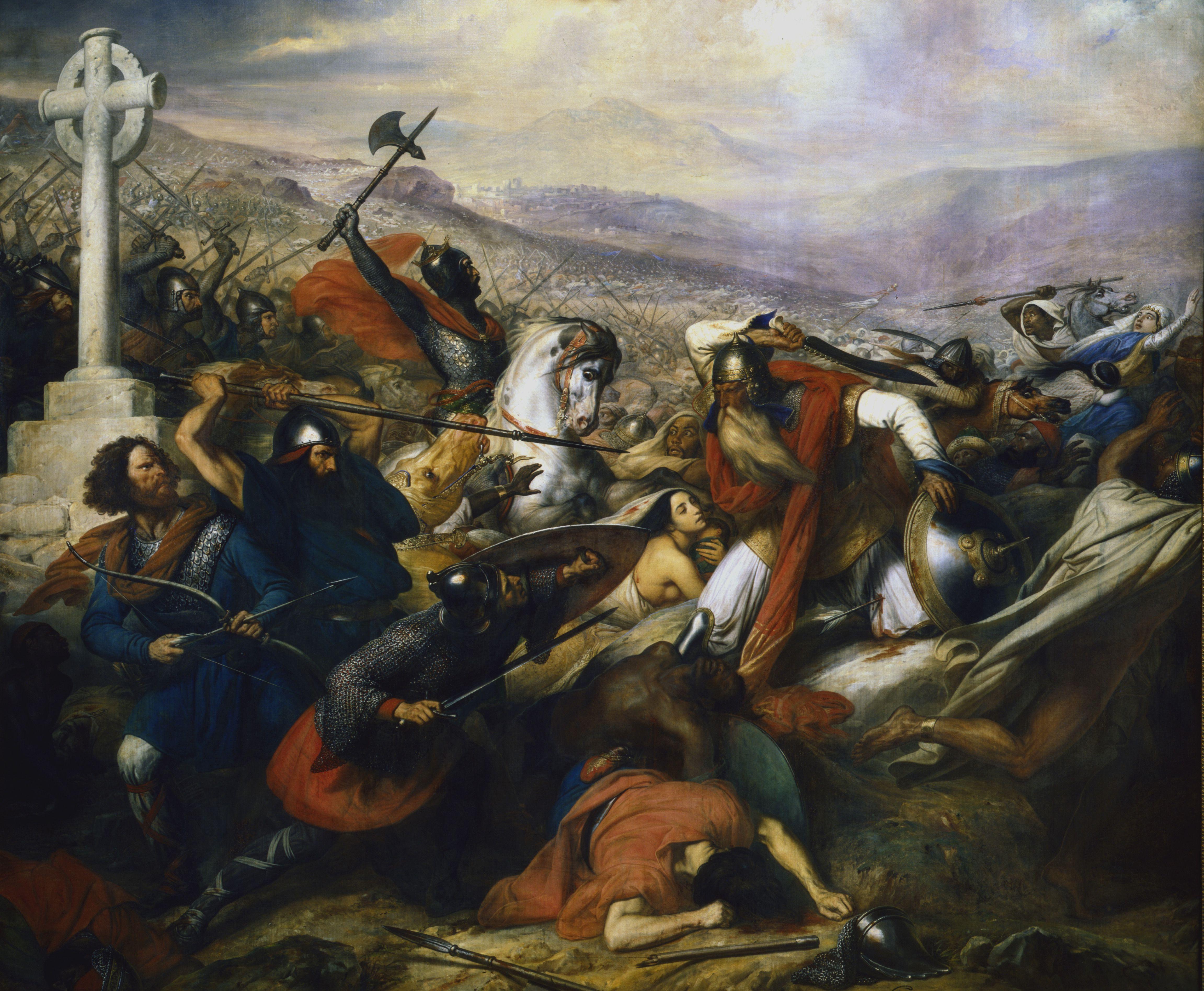 Battle of Poitiers, France, 732 (1837). Artist: Charles Auguste Guillaume Steuben