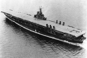 USS Ranger (CV-4) at sea.