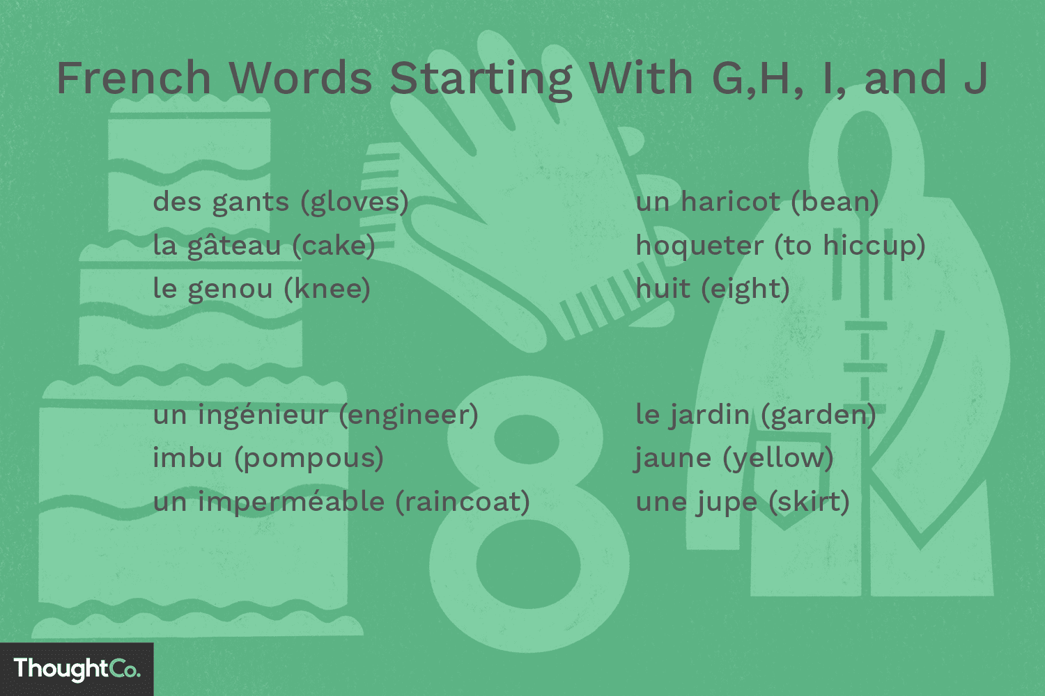 French Words Starting With G, H, I and J