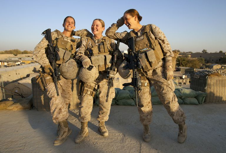 Female Marines in Afghanistan, 2010