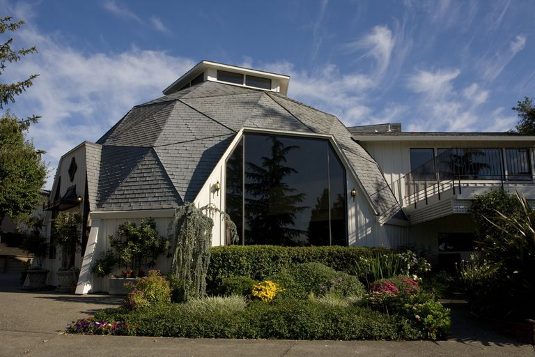 Armida Winery tasting room, a geodesic dome structure in Healdsburg, California