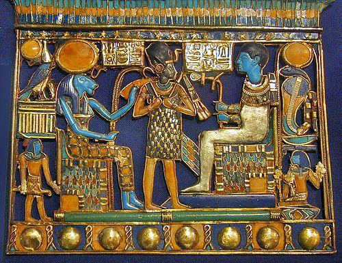 Sekhmet, King Tutankhamen and Ptah