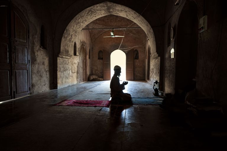 Man praying in Mosque