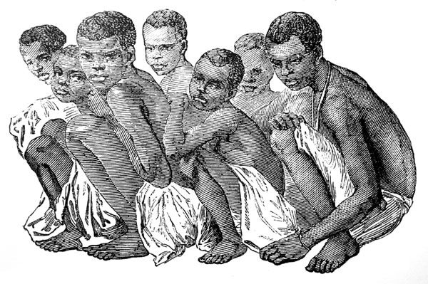 Young African Boys Captured for Slave Trade