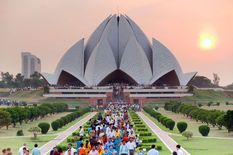 India, Delhi, Lotus Temple, Baha'i House of Worship