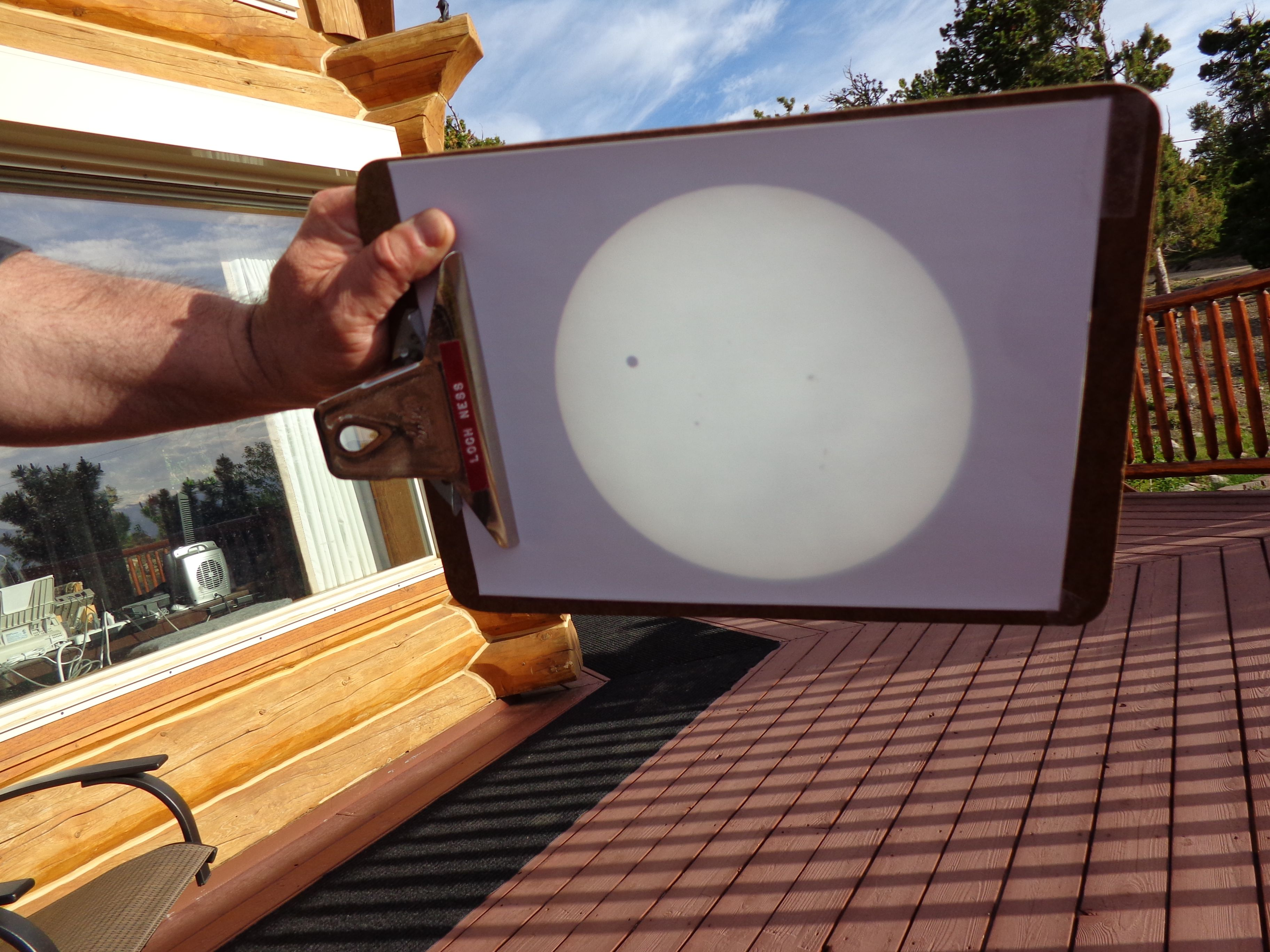 eyepiece projection of the Sun