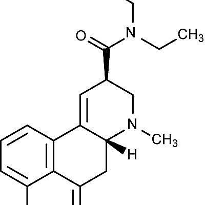 Esta es la estructura química de la dietilamida del ácido lisérgico o LSD.
