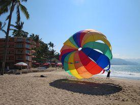 parasail in Puerto Vallarta, Mexico