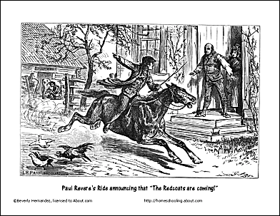 Paul Reveres Ride Coloring Page