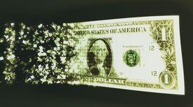 US dollar bill and binary code (Digital Composite)