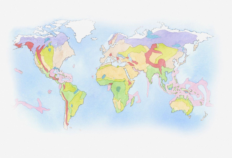Biomes Of North America Map.Tree Communities Of The Forest Biomes Of North America