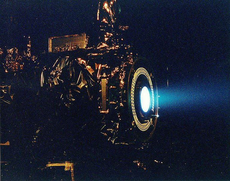 ion thruster test