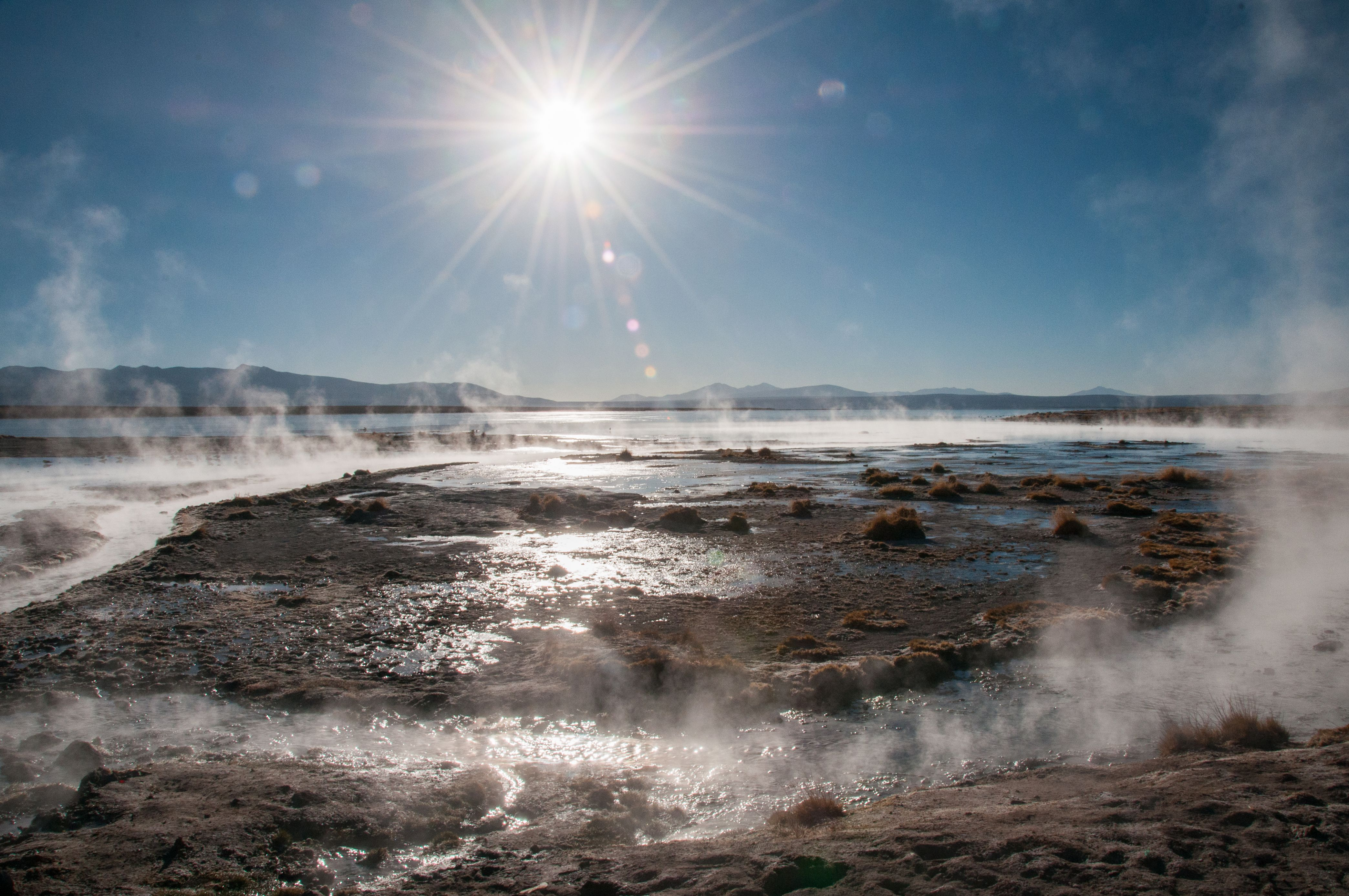Steam on hot surface - Bolivia