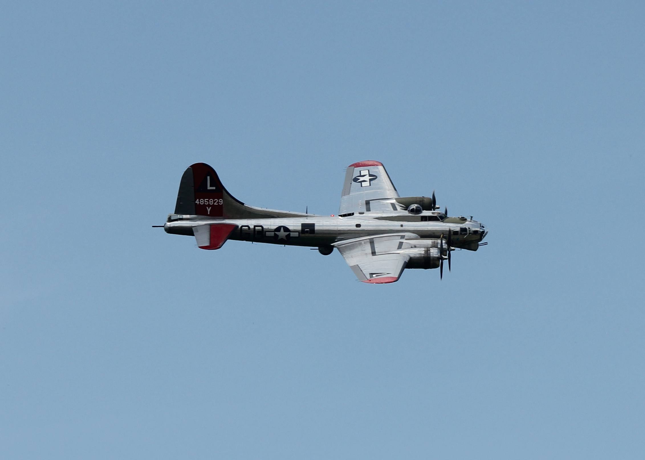 B-17 plane in flight