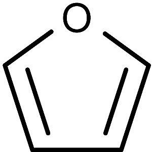 This is the chemical structure of furan.