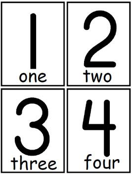 Flash Cards with Numbers