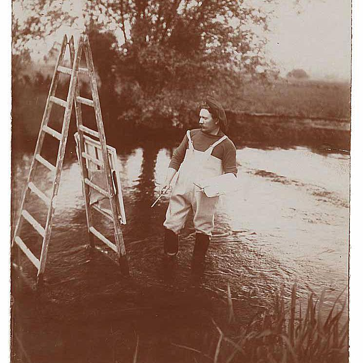 Louis Aston Knight and His Ladder Easel