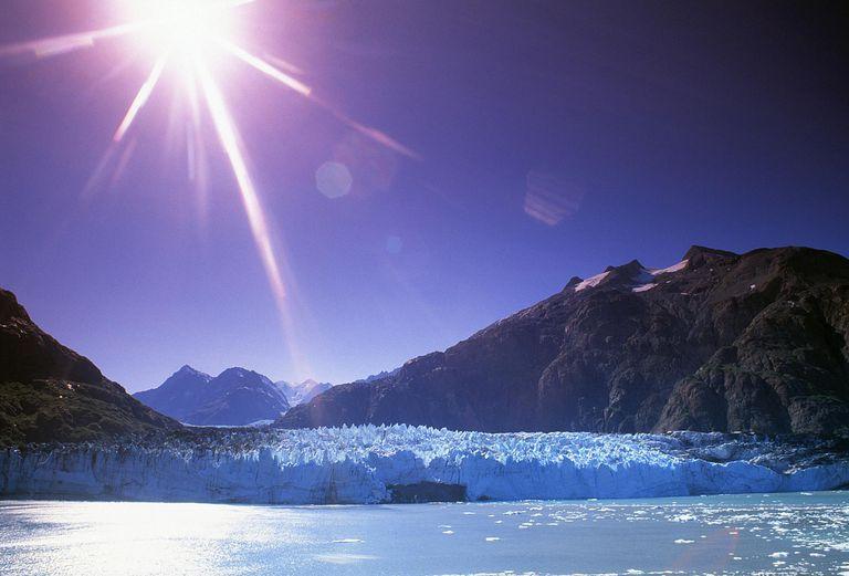 Sunburst over Grand Pacific Glacier, Alaska