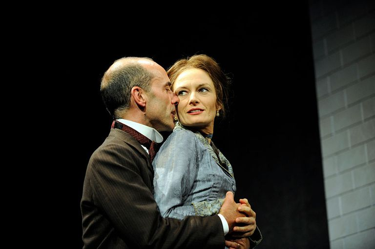 Catherine McCormack As Nora Helmer And Finbar Lynch Torvald Perform In Henrik Ibsens Play A Dolls House At The Theatre Royal Bath