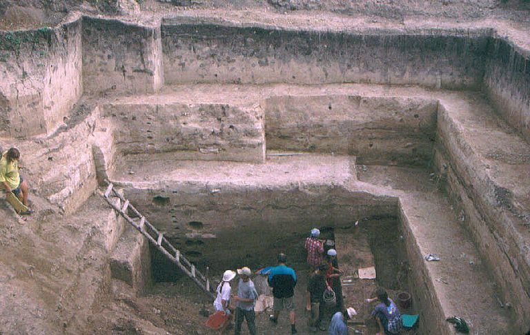 Excavations at Kostenki 14 in 2003
